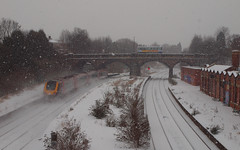 2018_03_0003 (petermit2) Tags: train rail railwaystation railway station masboroughrailwaystation masborough rotherham southyorkshire yorkshire snow winter bus