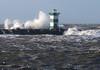 Force 10 (YIP2) Tags: beach sea waves storm northsea noordzee horizon seascape landscape water sky weather cloud clouds minimal minimalism grey coast coastline breakers lighthouse