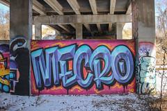 Mecro (NJphotograffer) Tags: graffiti graff pennsylvania pa trackside rail railroad mecro cdc crew