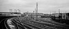 24 January 1968 (1) (Peter Leigh50) Tags: class 40 ee type 4 chester train railway mono blackandwhite track wagon signal lamp