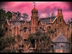 Haunted Mansion (Thanks for over 2 million views!!) Tags: chadsparkesphotography centralflorida waltdisneyworld wdw sky clouds haun magickingdom disneysmagickingdom mansion building trees
