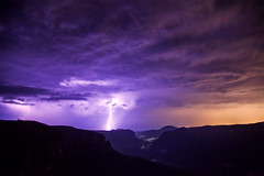 Electricity In The Air || BLUE MOUNTAINS || AUSTRALIA (rhyspope) Tags: australia aussie nsw new south wales blue mountains blackheath grose valley govetts leap rhys pope rhyspope canon 5d mkii storm thunder lightning thunderstorm night dark clouds weather amazing tourism travel view vista