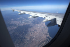 A319 IBERIA OVER BCN (xveair) Tags: airbus a319 iberia wing barcelona city