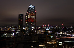 City of the Red Night (Lord Eglinton) Tags: london blackfriars england uk britain property flat skyline doom gloom bt tower neon bridge itv