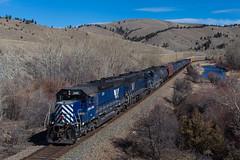 Along the Little Blackfoot (jameshouse473) Tags: mrl sd45 emd bradley montana rail link blackfoot river