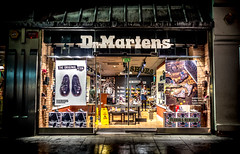 Dr Martens Store. . . (CWhatPhotos) Tags: photographs photograph pics pictures pic picture image images foto fotos photography artistic cwhatphotos that have which with contain gateshead wear north east england uk newcastle upon olympus penf pen f micro four thirds 43 camera 17mm f18 prime zuiko lens window display night time dr marten martens shop retail store 153 grainger street buy footwera boots shoes shoeshop