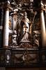 Diest, Vlaams-Brabant, St.-Sulpitiuskerk, museum, altar of St. Arnoldus, detail (groenling) Tags: diest vlaamsbrabant brabant vlaanderen flanders belgium belgië be stsulpitiuskerk altar altaar arnoldus saint heilige sint bishop bisschop miter mijter angel engel cherub putto wood carving woodcarving hout snijwerk houtsnijwerk aisle sideaisle zijbeuk crosier