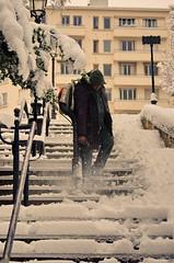 217 Paris en Février 2018 - sous la neige rue Sorbier (paspog) Tags: paris france neige snow schnee février februar february 2018 ruesorbier