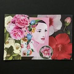 Floral woman (CurlyTea) Tags: collage postcard swap floral