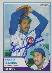 1983 O-Pee-Chee - Fergie Jenkins #230 (Pitcher) (Baseball Hall of Fame 1991) - Autographed Baseball Card (Chicago Cubs) (Treasures from the Past) Tags: fergiejenkins fergusonjenkins chicagocubs texasrangers bostonredsox philadelphiaphillies canada canadian cbhof canadianbaseballhalloffame baseball cards mlb hof halloffame auto autograph sign signed graf graph vintage chathamontario harlemglobetrotters opeechee 1983opeechee opc pitcher 1983 1983opc