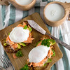 Eggs benedict with salmon (Speleolog) Tags: egg sauce salmon poached breakfast plate food gourmet benedict hollandaise english smoked lunch white cooked brunch toasted cooking butter bread meal prepared garnish american yolk delicious muffin morning dish closeup appetizer tasty boiled yellow vegetable organic seafood green cuisine eating healthy fresh country british rustic parsley avocado scandinavian norvegian sweden