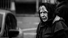 The Beast From The East. (Neil. Moralee) Tags: chagfordneilmoralee neilmoralee cold old mature woman lady street scarf skarf candid freezing wind winter weather beast east ice headscarf hat mother grandmother granny gran outdoor people face portrait neil moralee nikon d7200 chagford devon uk black white bw bandw blackandwhite mono monochrome whiteandblack