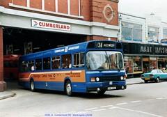 Cumberland 391 840802 Workington [jg] (maljoe) Tags: cumberland cms cumberlandmotorservices leylandnational advertbus nationalbuscompany