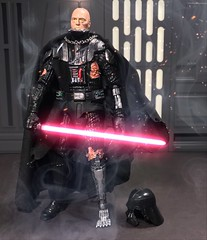"""6"""" custom battle damaged Darth Vader. (chevy2who) Tags: toyphotography toy wars star series black custom darth vader battledamaged customstarwarsblackseries customblackseries blackseries starwars forceunleashed"""
