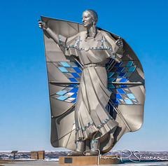 Dignity (Captain Tenneal) Tags: dignity stainless steel statue chamberlain sd south dakota