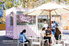 Pretzel Perth, WA (Naomi Rahim (thanks for 3.9 million visits)) Tags: perth westernaustralia wa 2017 australia travel travelphotography nikon nikond7200 wanderlust foodtruck pink crate shippingcontainer