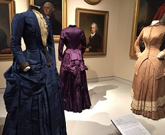 Victorian Dresses, 1883-4 (Foxy Belle) Tags: museum costume 1800s clothing victorian era dress fashion