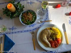 Hühnchen a´la Paul Bocuse (Laterna Magica Bavariae) Tags: hühnchen paul bocuse safranreis pfifferlinge champignons tomaten sonntag essen