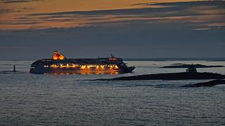 The ferry Baltic Queen at the Kobba Klintar islands  in Åland Finland