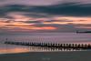 North Sea Silk (Derek Coull) Tags: aberdeen beachscape longexposure hitechprostop10irnd predawn southbreakwater groynes waves fastmovingclouds northsea sand beach colourful