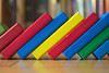 line up the blocks (Asenath Waite) Tags: colorful colors toyphotography toys blocks primarycolors colour colourful lines manualfocus manualfocuslens sigmaminiwide28mmf28 adaptedlens vintagelens legacylens olympusep3 microfourthirds indoor