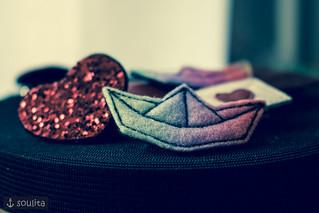 Happy Sunday <3 - *Rainbow Boat* – Brosche | Badge | Pin | Anstecker