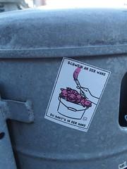 (Kein) Schwein an der Wand (mkorsakov) Tags: münster city innenstadt sticker aufkleber character url farbe paint wtf