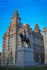 Liver Building and The Edward VII Statue. (ParrPhotography) Tags: theedwardvii7th liverpool liver liverbirds liverbird pierhead
