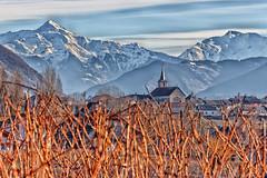 Village : Les Marches - Savoie (gerardcarron) Tags: canon80d ciel cloud france hiver landscape lesmarches montagne mountains nature neige nuages paysage savoie sky snow winter eglise church village 18135