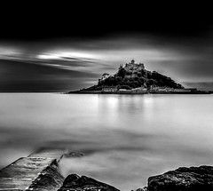 Evening Mount (Mousehole_Tom) Tags: st miche michaels mount cornwall mono long exposure