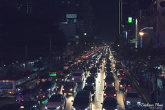 The lights go on for miles (gunman47) Tags: 2017 asia bangkok central christmas december east road siam south thai thailand car jam jams landscape light night photography street traffic vehicle city