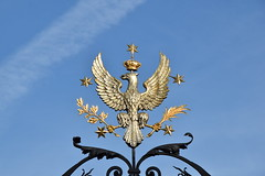 Polnischer Adler / Polish Eagle (Walking Poland Group) Tags: adler stern blau gold universitätwarschau warschau warsaw polen rzeczpospolita krone polska korona crown eagle orzel skrzydla flügel niebieski blue