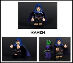 Raven (-Metarix-) Tags: lego super hero minifig raven dc comics comic teen titans custom rebirth universe beast boy decals paint