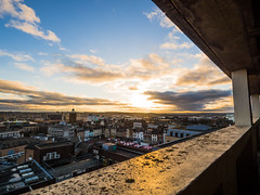 Day 7 (Lauren Clarke Photography) Tags: olympusomdem10mark2 olympus918mm microfourthirds settingsun colour sky 18mm ultrawide 365 365project day7 northampton parkinglot townscape view