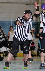 IMG_8446 crop 1 (KORfan) Tags: rollerderby barbedwirebetties cabinfeverscrimmage referees officials