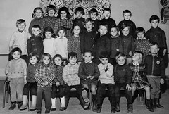 Class Photo (theirhistory) Tags: children boys kids girls jacket trousers shoes shirt wellies boots class form school pupils students education