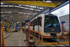 2500 en los talleres de El Campello (lagunadani) Tags: taller elcampello tram fgv 2500 man 2511 tren automotor diesel alicante narrowgauge ferrocarril talleres industrial