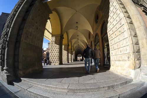Bologna (Italy) - Portico del Palazzo del Podestà