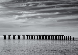 Abandoned shipping pier