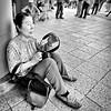 asakusa, japan (michaelalvis) Tags: woman monochrome bw blackandwhite candid portrait japan japanese tokyo asakusa asia streetphotography streetlife street peoplestreet fujifilm x70 travel nihon nippon japon