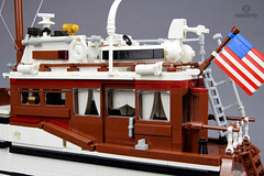"""Lake Union Dreamboat """"Vagabond"""" (Markus """"Madstopper"""" Ronge) Tags: lego woodenyacht wooden boat moc madstopper whalewatching orca scalemodel"""
