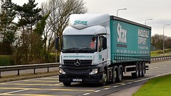 YL15 NED (Martin's Online Photography) Tags: mercedes actros mp4 truck wagon lorry vehicle freight haulage commercial transport a580 leigh lancashire nikon nikond7200