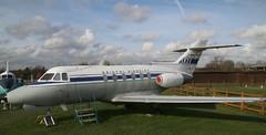 G-ARYC DH.125 Srs 1A Bristol Siddeley side (kitmasterbloke) Tags: dehaviland museum londoncolney hertfordshire uk aviation wreck relic wr civil airliner jet