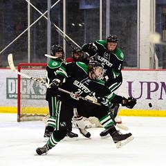 I have no explanation for this... (R.A. Killmer) Tags: sru acha black green skate odd funny kicksave ice slippery rock university puck stick