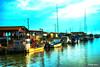 Port d'Andernos à la tombée de la nuit (didier95) Tags: andernoslesbains porthostreicole port gironde bateau mer andernos cabane reflet
