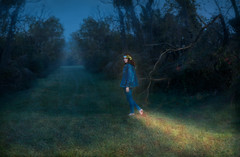 The cruellest month (Giovanni Malfattore) Tags: giulia friend girl brenizer photography spring winter month eliot light life barefoot grass tree sky forest hippie