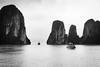 Halong Bay (Edocaprio) Tags: boat halongbay ocean seascape vietnam monochrome blackandwhite blancoynero landscape nature