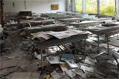 In a Pripyat School (Aad P.) Tags: chernobyl чорнобиль pripyat припять ukraine україна sovietunion cccp nuclearpowerplant radioactivity urbex urbexphotography radiation exclusionzone school classroom
