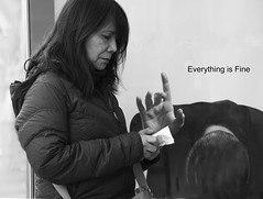 Everything is Fine (J MERMEL) Tags: genres geography nyc people poster billboard woman