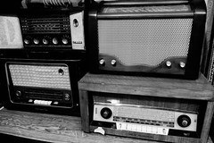 . (robbie ...) Tags: wireless radio old style grundig iran shiraz fuji xt10 black white monochrome